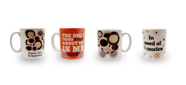 Liquorice mugs set of four