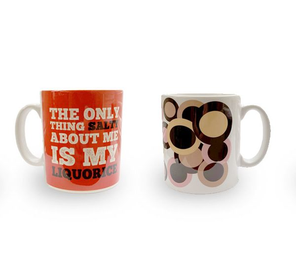 Liquorice mugs set of four